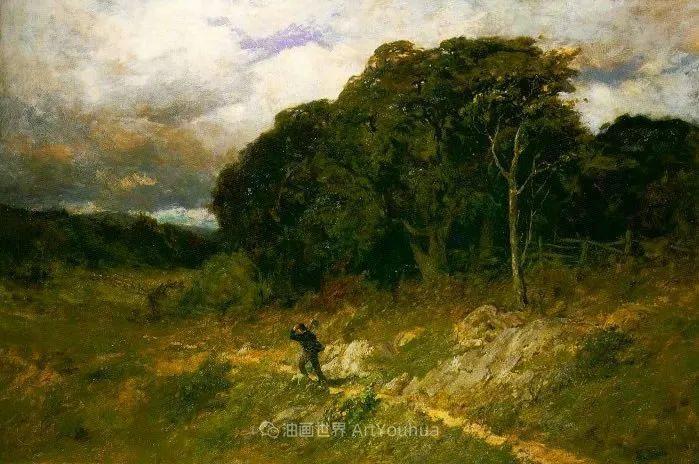 古典主义风格,宁静的田园风景画插图127