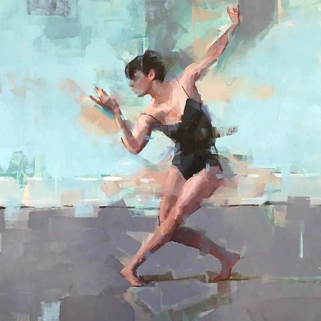 富有表现力的油画,美国艺术家雅各布·德恩插图1