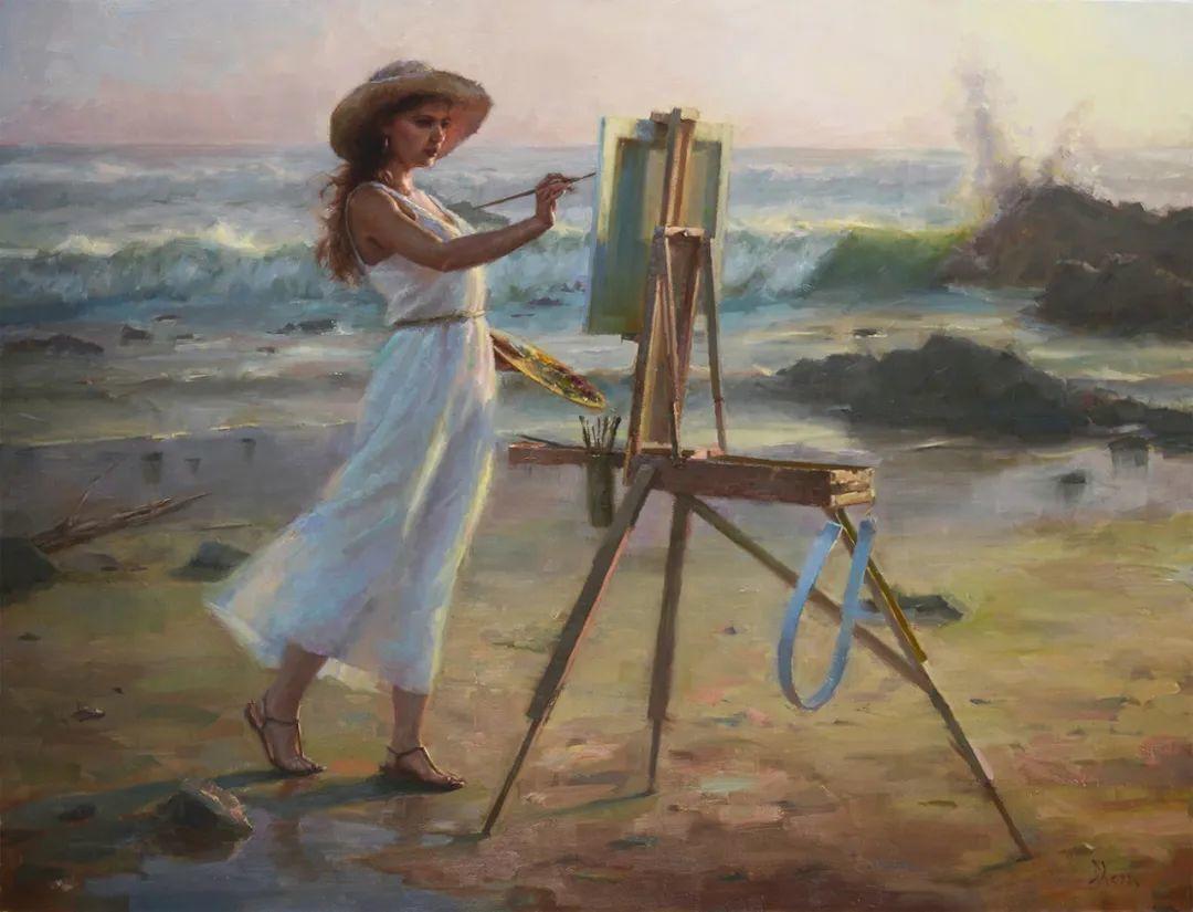 富有表现力的油画,美国艺术家雅各布·德恩插图17