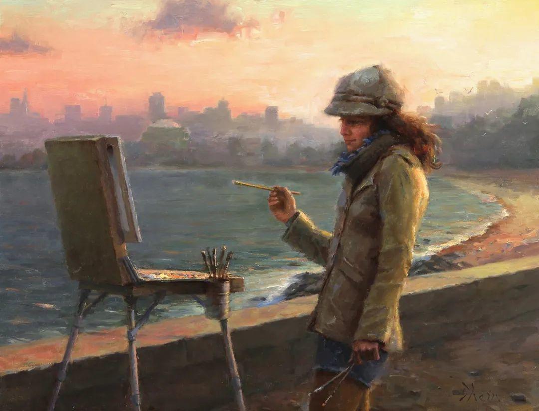富有表现力的油画,美国艺术家雅各布·德恩插图19