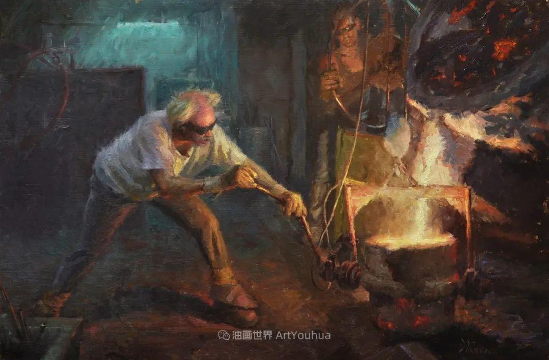 富有表现力的油画,美国艺术家雅各布·德恩插图35