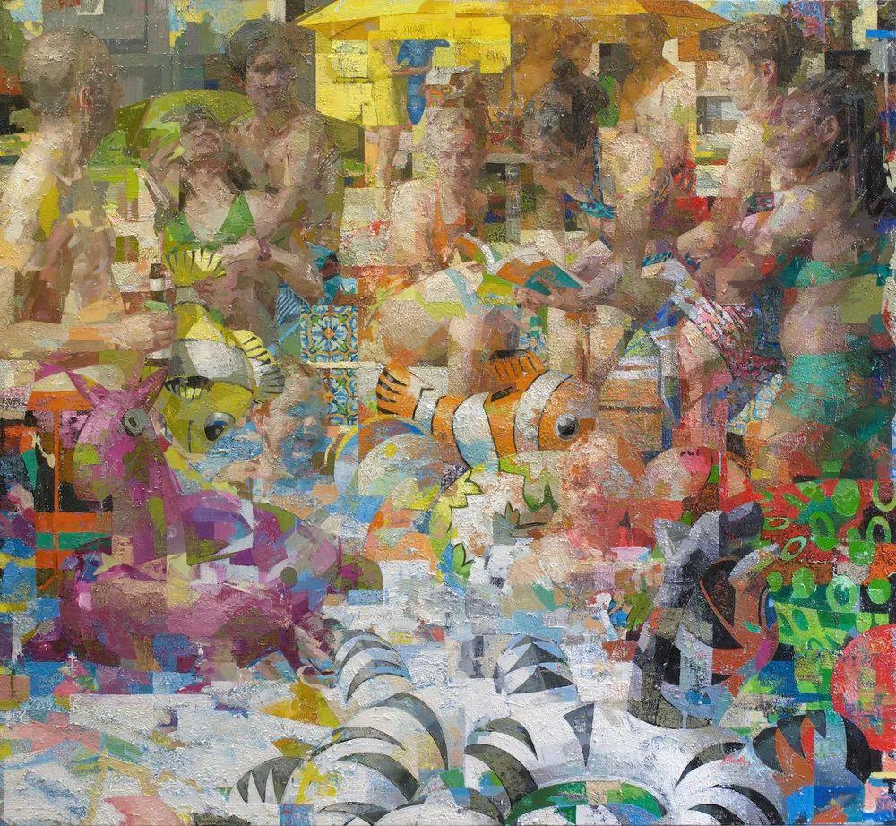 色彩新清的具象绘画,美国女画家佐伊·弗兰克插图12