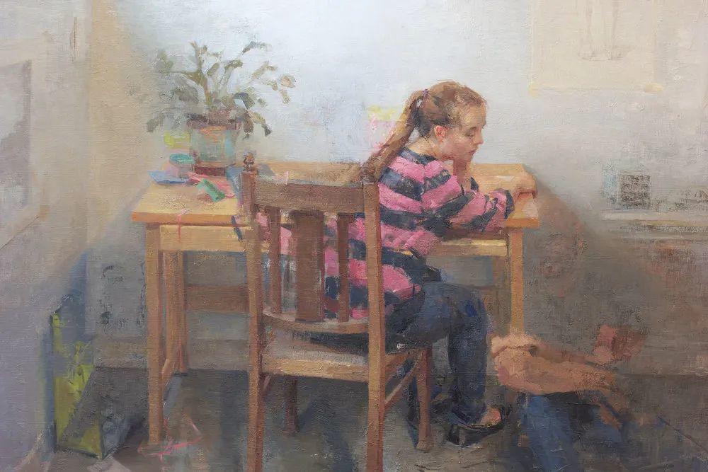 色彩新清的具象绘画,美国女画家佐伊·弗兰克插图14