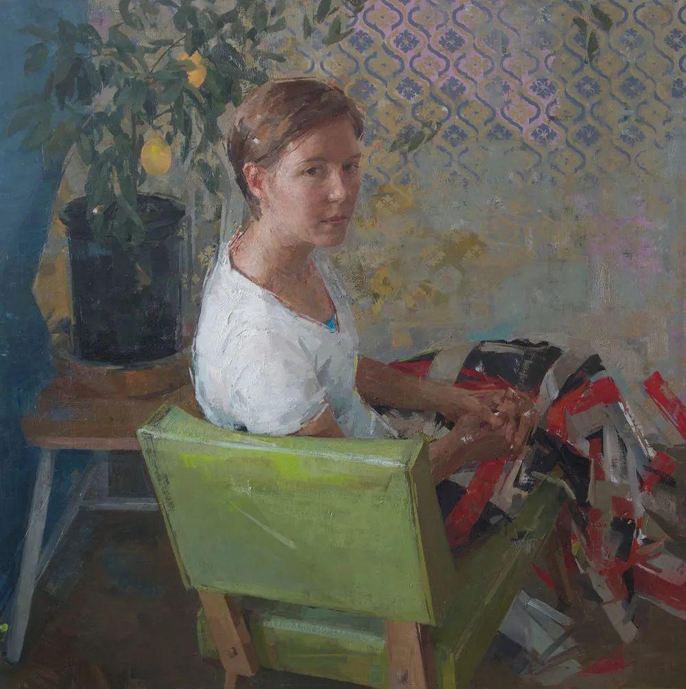 色彩新清的具象绘画,美国女画家佐伊·弗兰克插图16