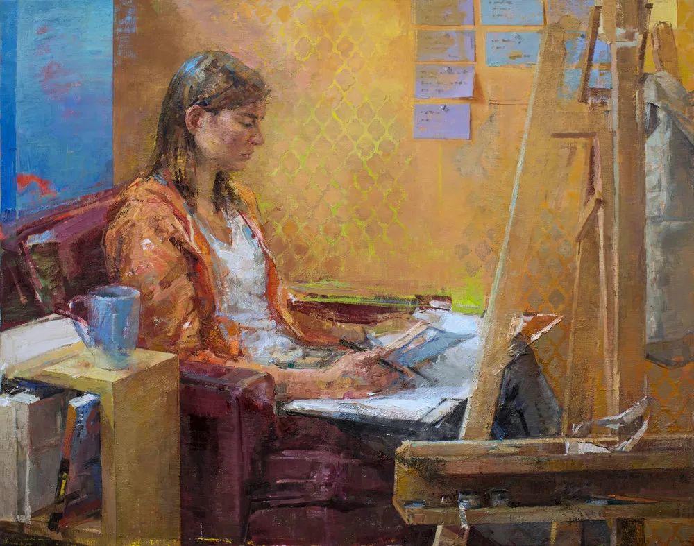色彩新清的具象绘画,美国女画家佐伊·弗兰克插图17
