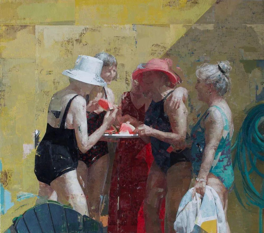 色彩新清的具象绘画,美国女画家佐伊·弗兰克插图20