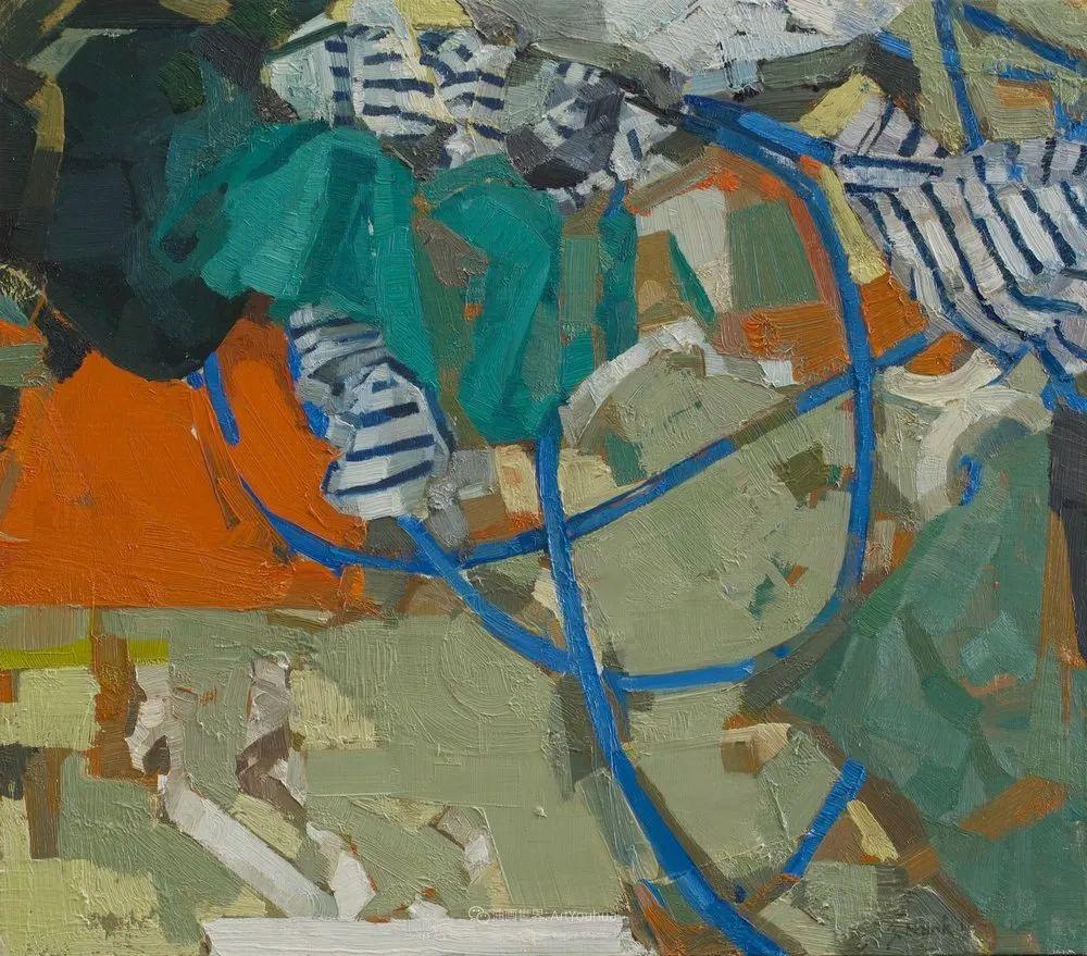 色彩新清的具象绘画,美国女画家佐伊·弗兰克插图31