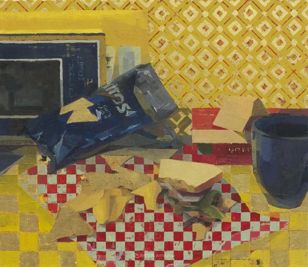 色彩新清的具象绘画,美国女画家佐伊·弗兰克插图32