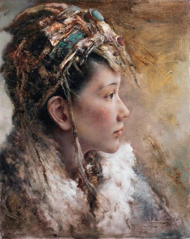 他画的西藏女孩,美得孤高、坚韧!插图3