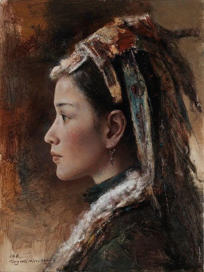 他画的西藏女孩,美得孤高、坚韧!插图7