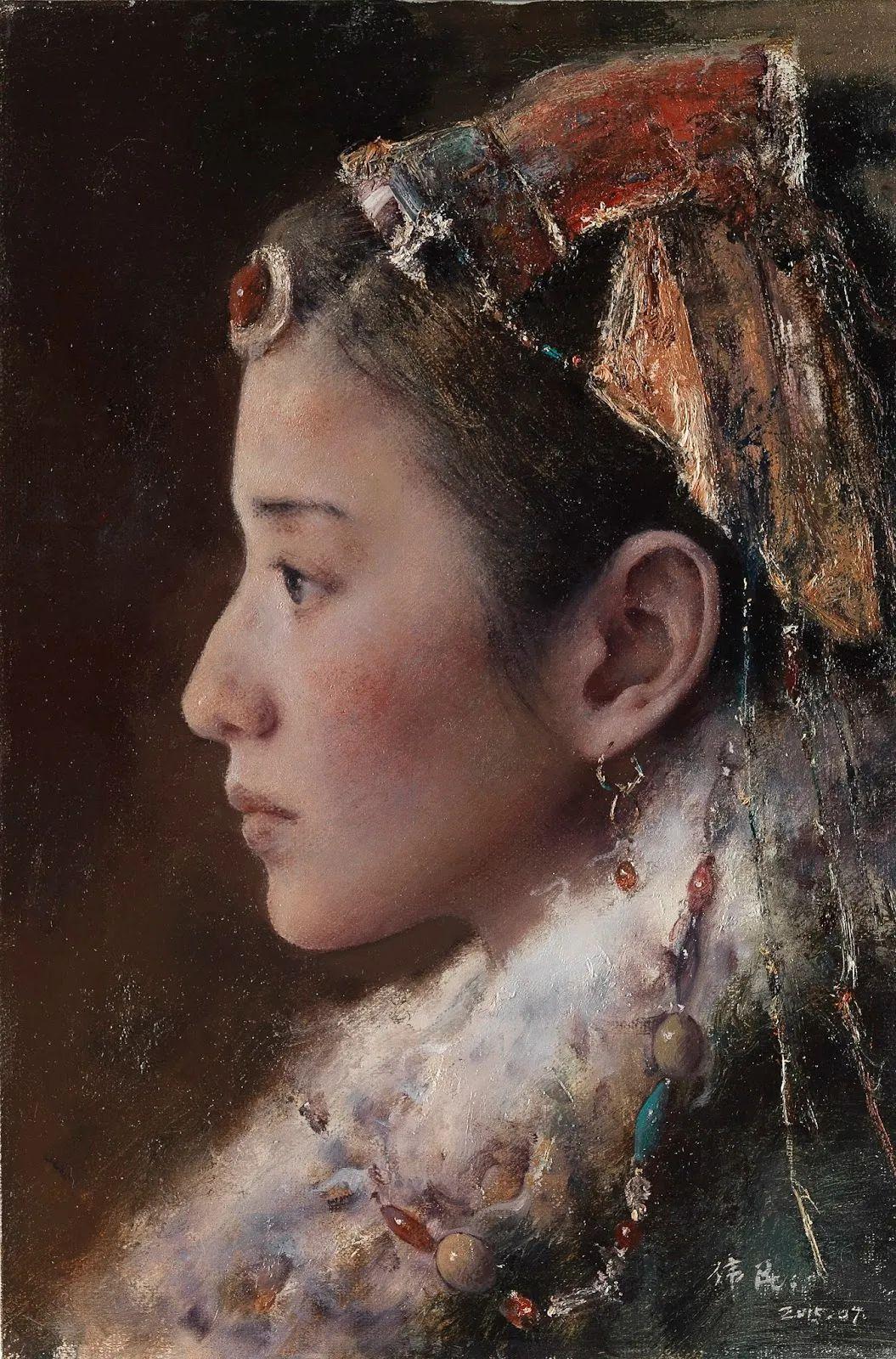 他画的西藏女孩,美得孤高、坚韧!插图9