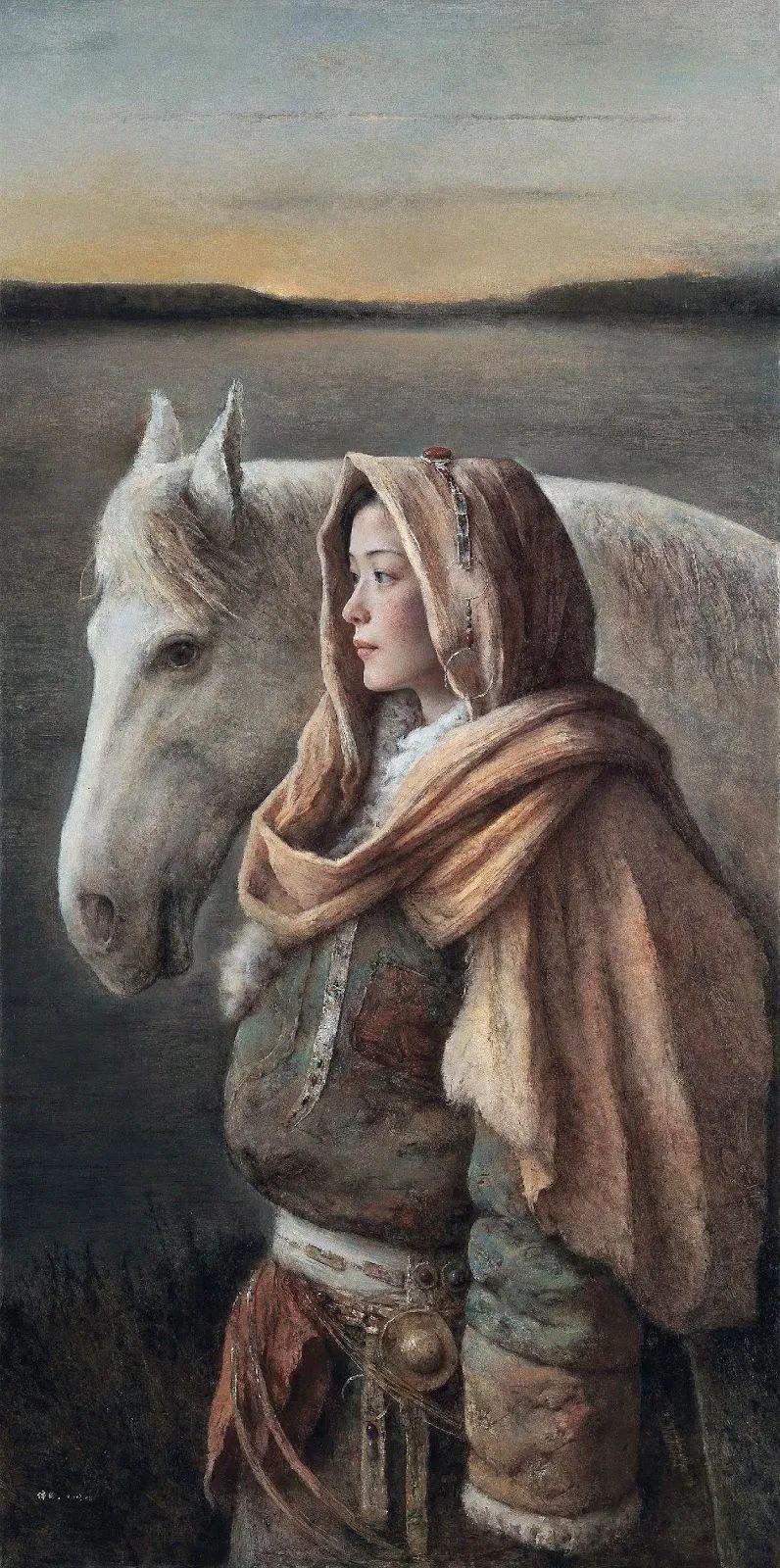 他画的西藏女孩,美得孤高、坚韧!插图11