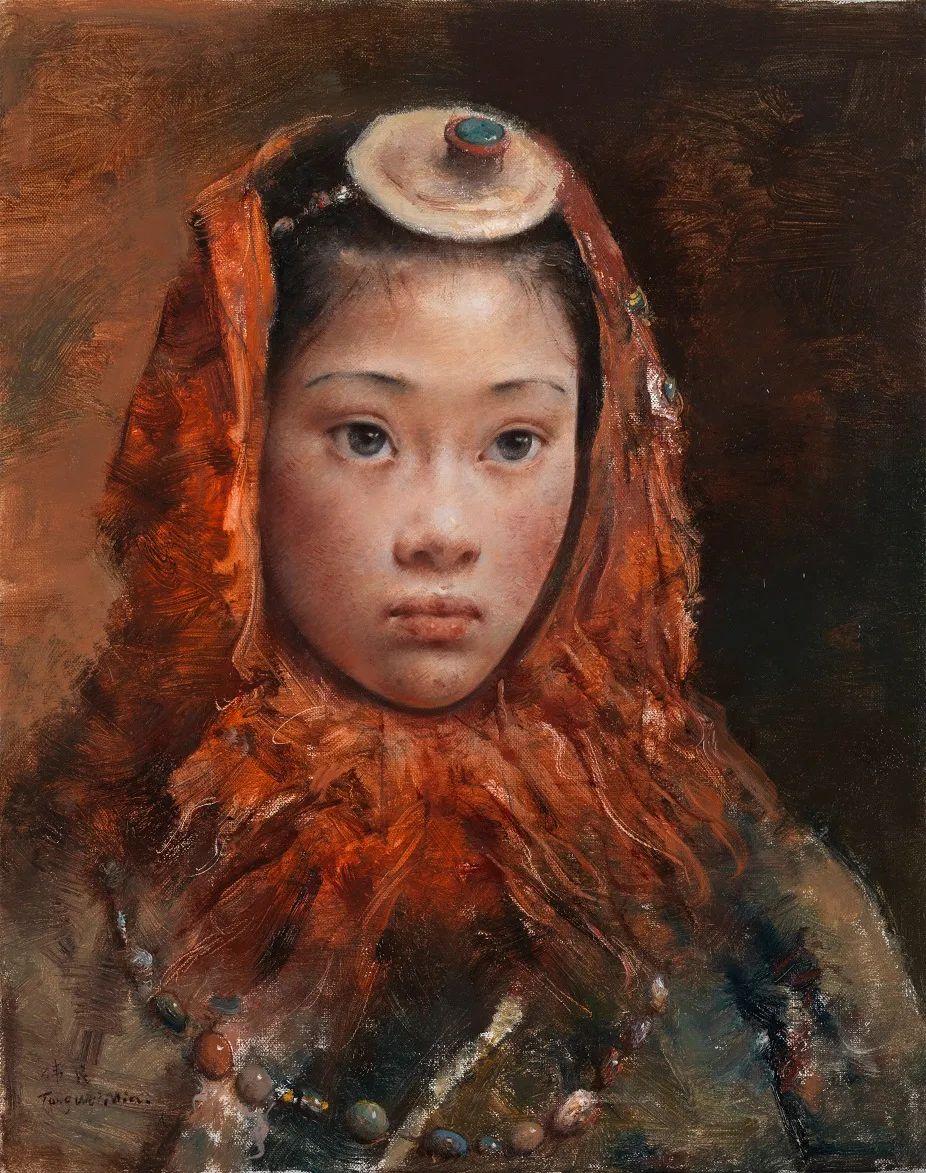 他画的西藏女孩,美得孤高、坚韧!插图15