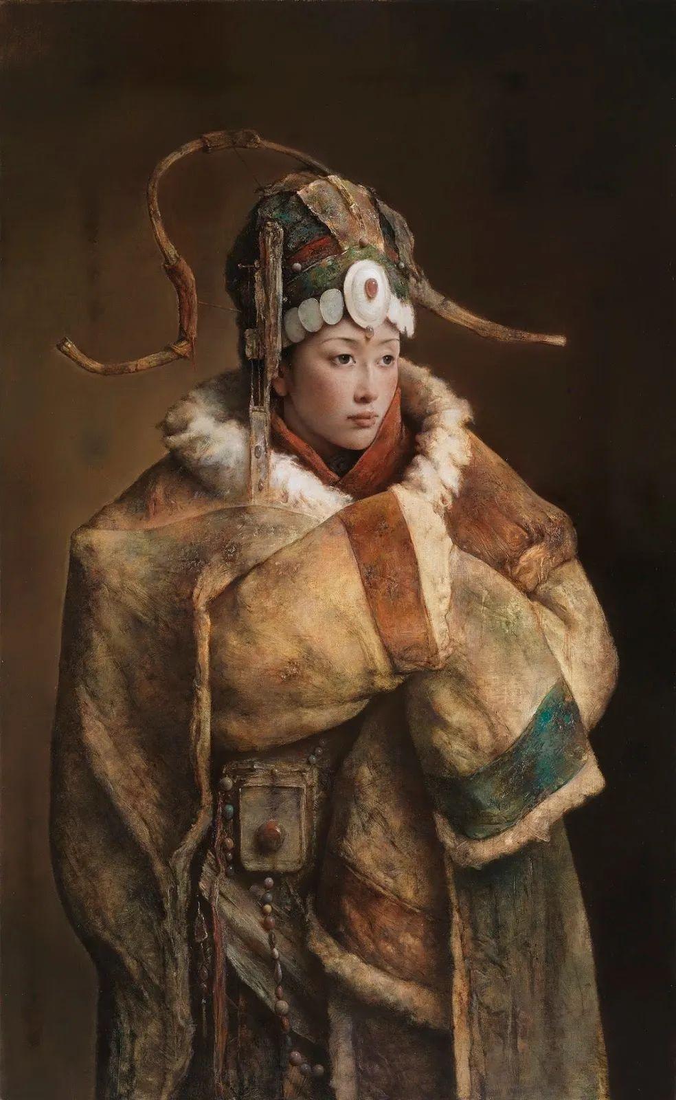 他画的西藏女孩,美得孤高、坚韧!插图17