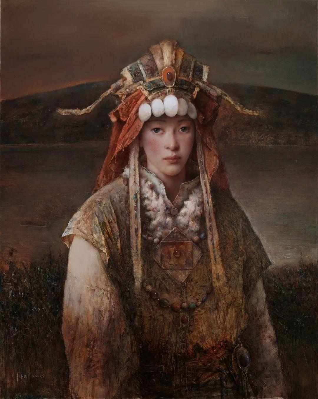 他画的西藏女孩,美得孤高、坚韧!插图19