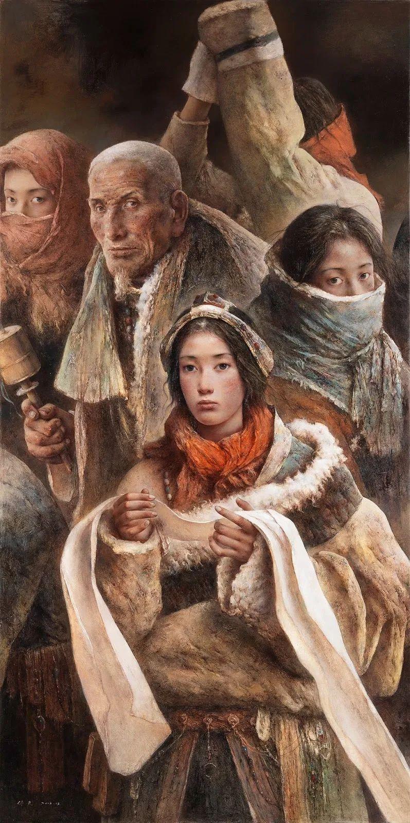 他画的西藏女孩,美得孤高、坚韧!插图25