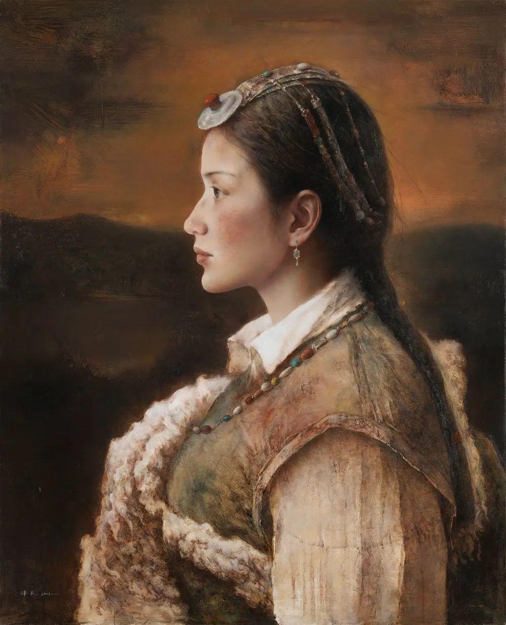 他画的西藏女孩,美得孤高、坚韧!插图27