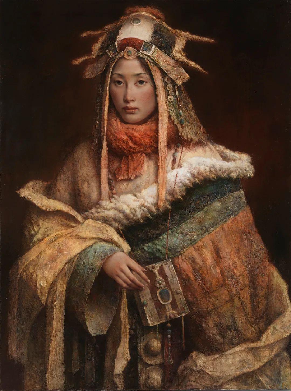 他画的西藏女孩,美得孤高、坚韧!插图29