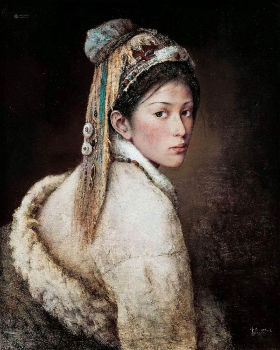 他画的西藏女孩,美得孤高、坚韧!插图31
