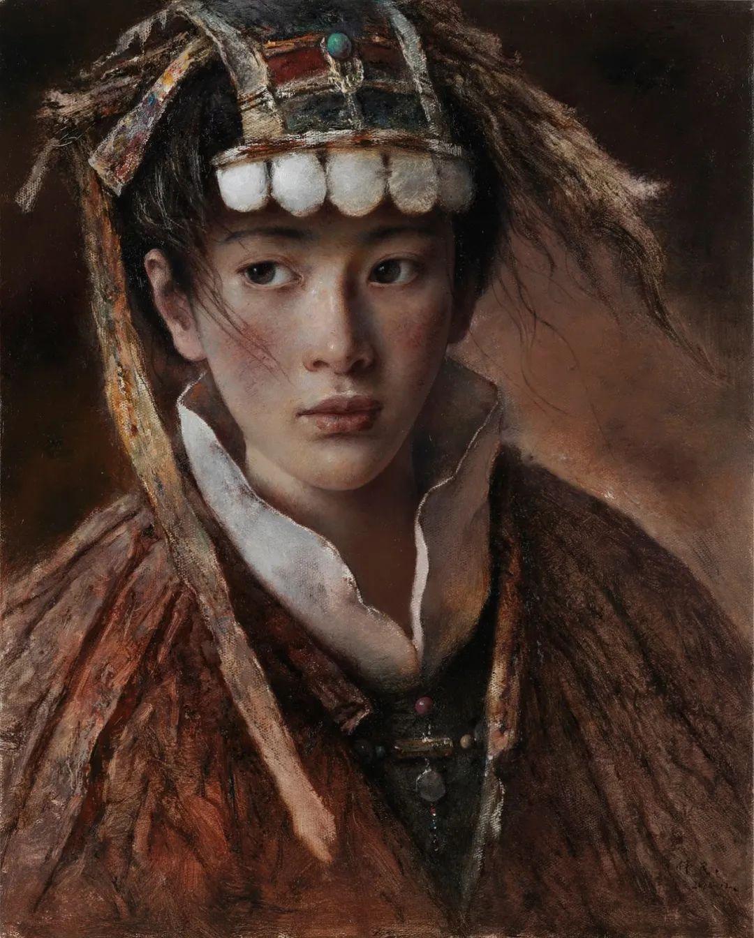 他画的西藏女孩,美得孤高、坚韧!插图35