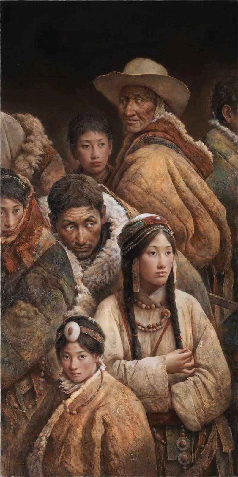他画的西藏女孩,美得孤高、坚韧!插图39