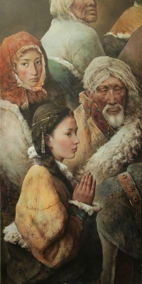 他画的西藏女孩,美得孤高、坚韧!插图41