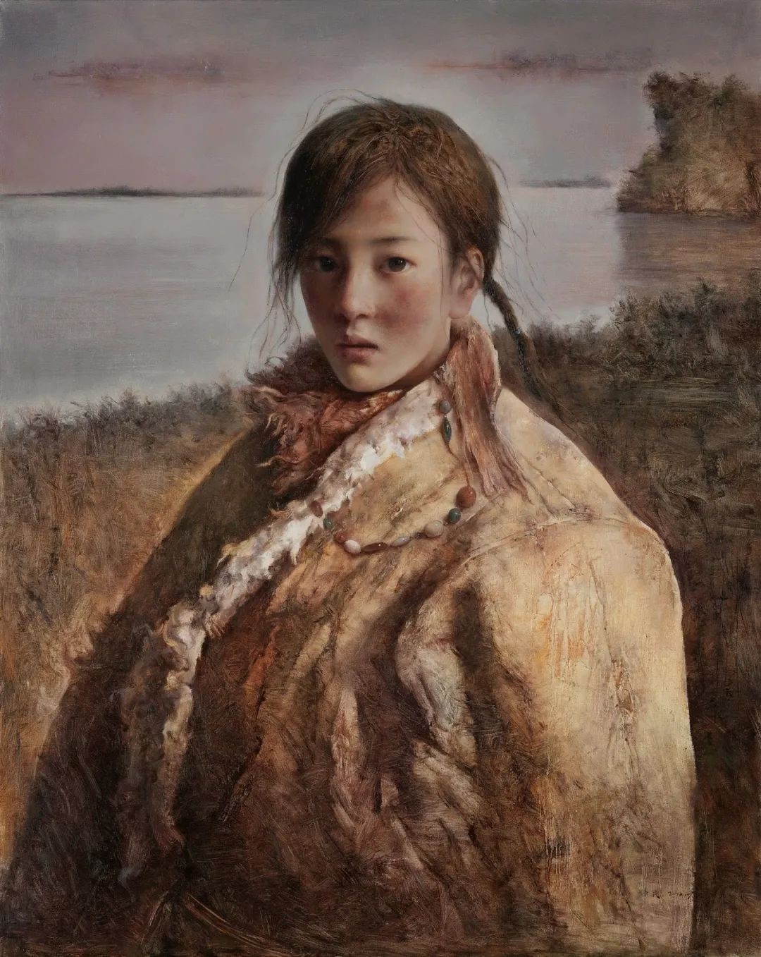 他画的西藏女孩,美得孤高、坚韧!插图45