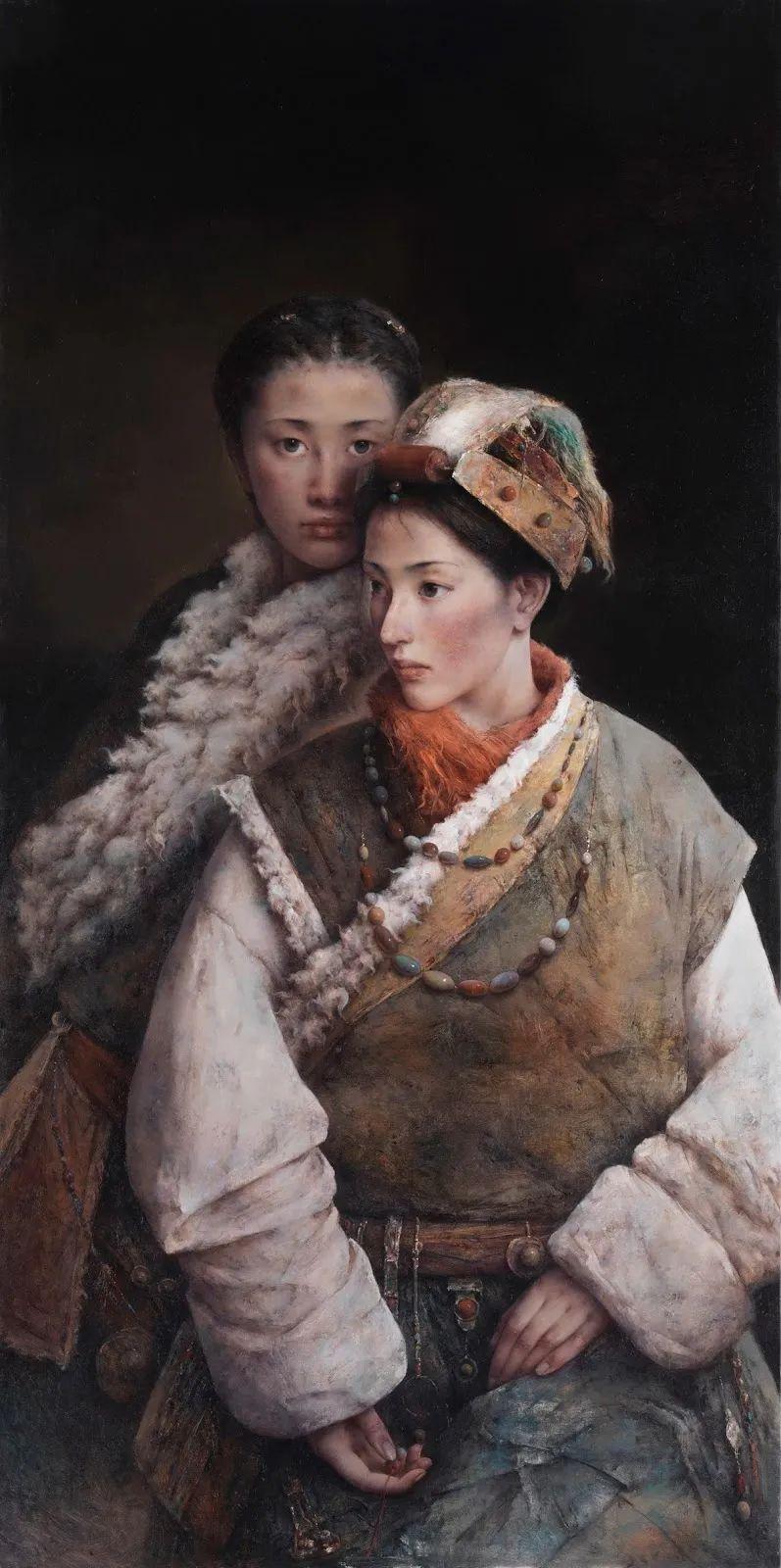 他画的西藏女孩,美得孤高、坚韧!插图55