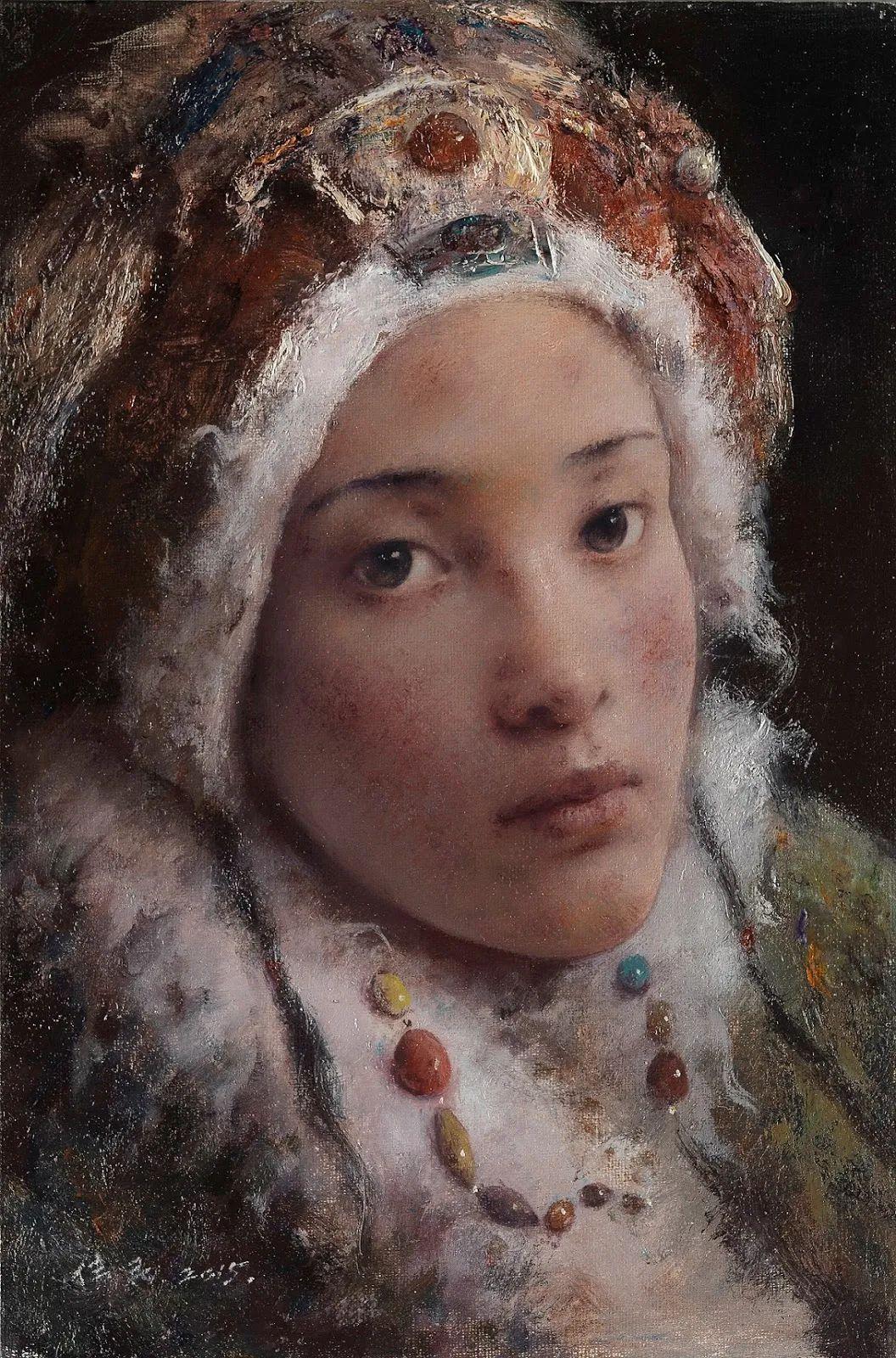 他画的西藏女孩,美得孤高、坚韧!插图57
