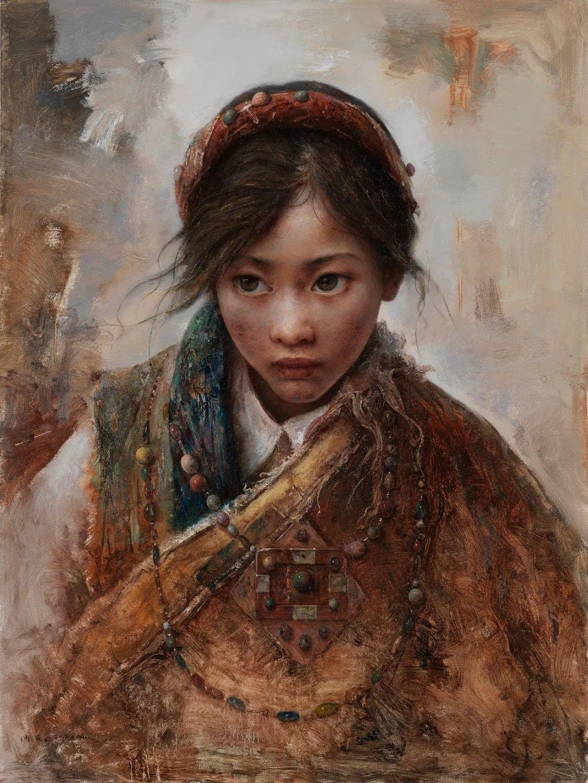 他画的西藏女孩,美得孤高、坚韧!插图59