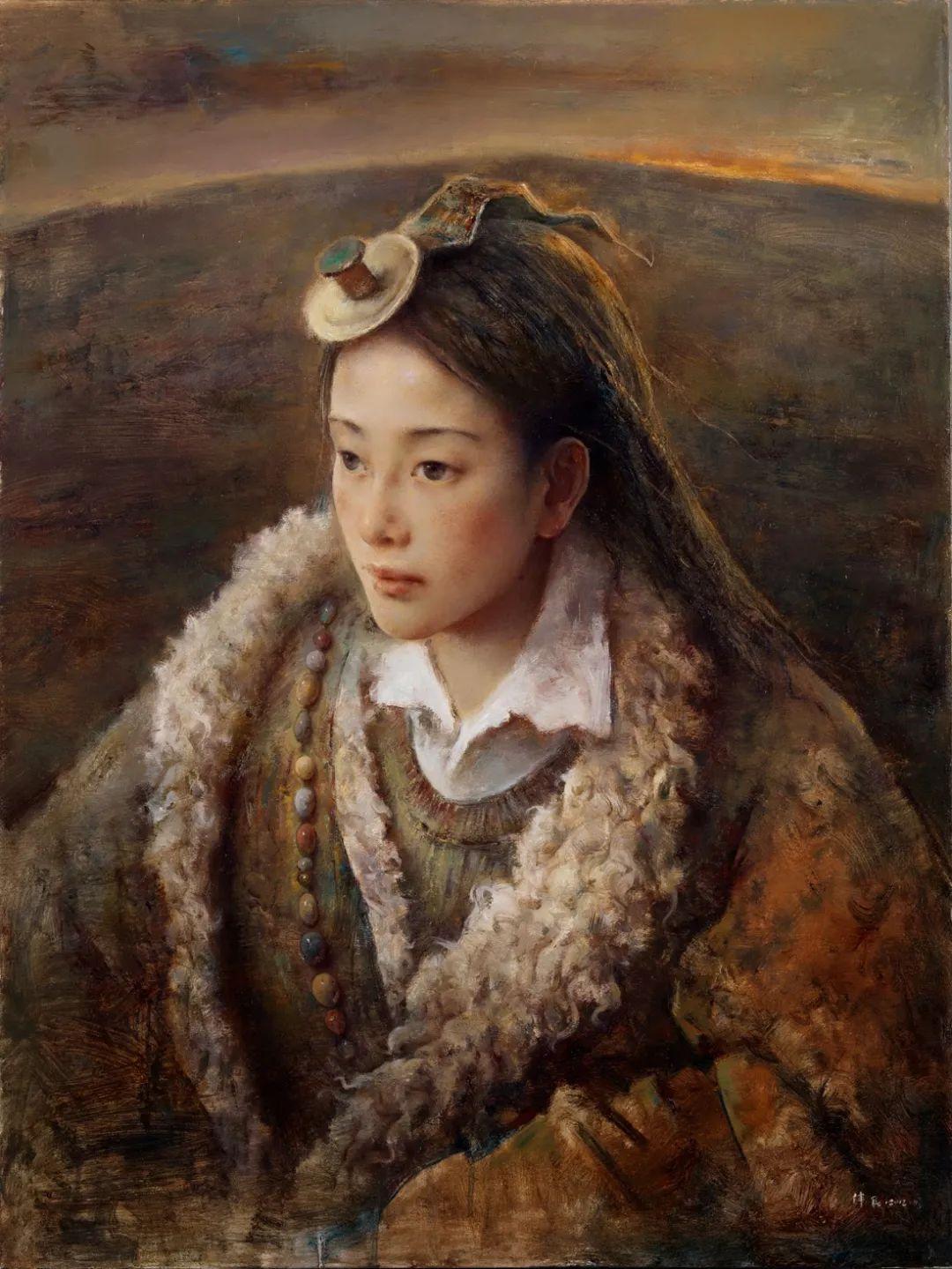 他画的西藏女孩,美得孤高、坚韧!插图61