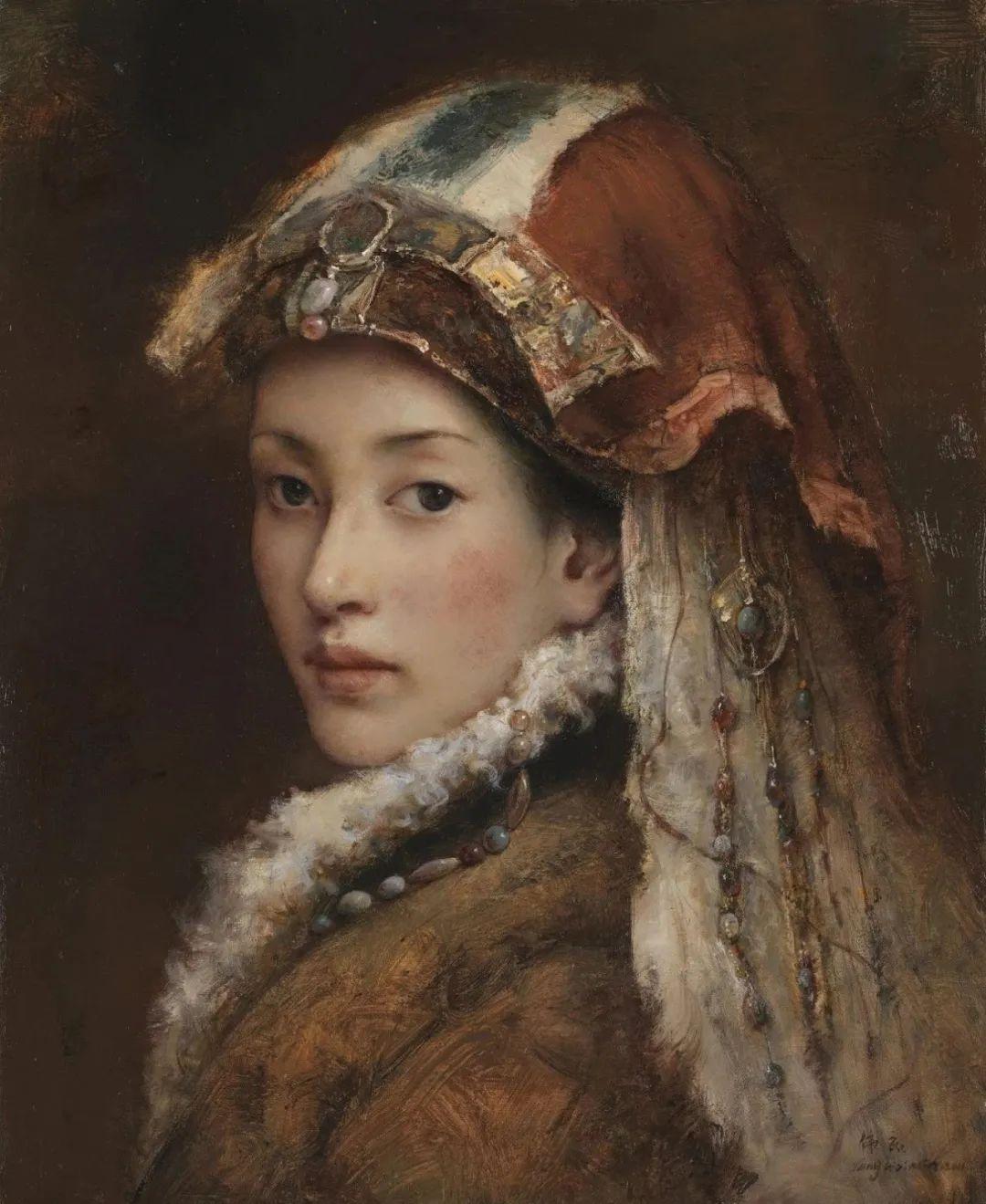 他画的西藏女孩,美得孤高、坚韧!插图65