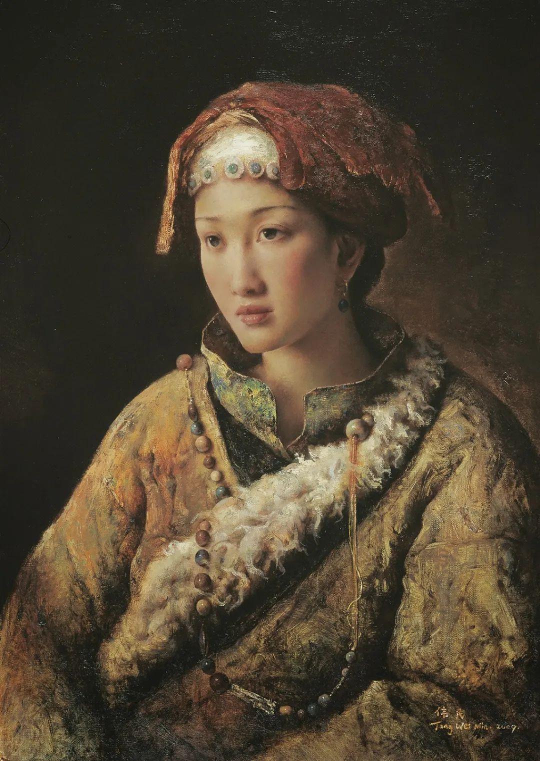 他画的西藏女孩,美得孤高、坚韧!插图71