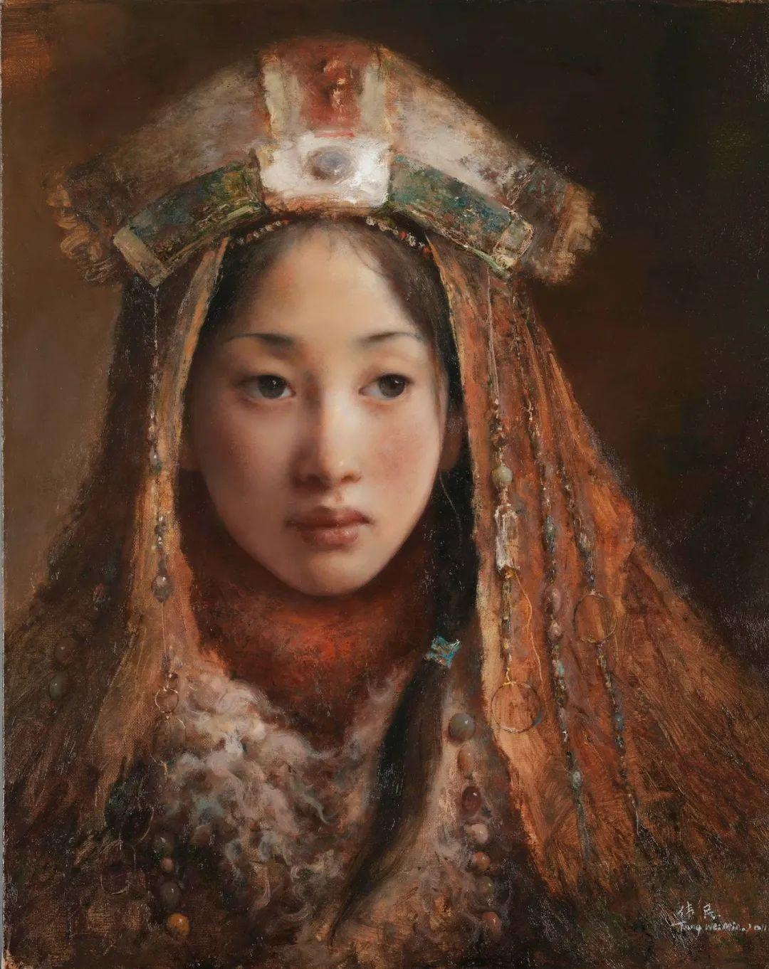 他画的西藏女孩,美得孤高、坚韧!插图73