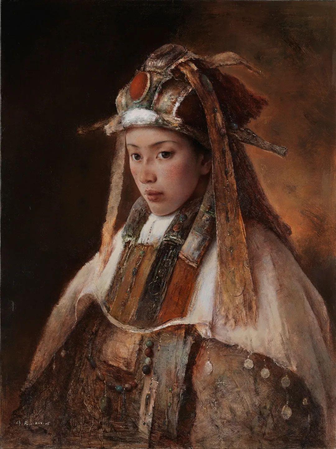 他画的西藏女孩,美得孤高、坚韧!插图77