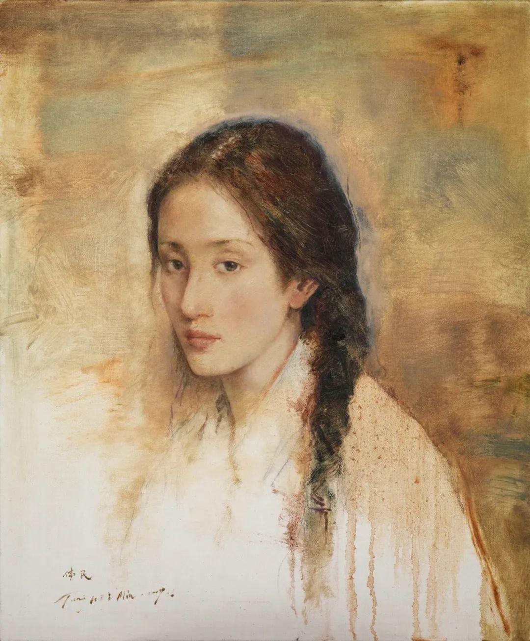 他画的西藏女孩,美得孤高、坚韧!插图79