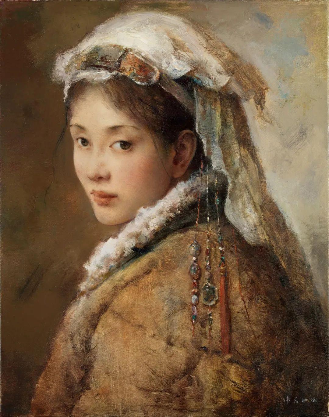 他画的西藏女孩,美得孤高、坚韧!插图81