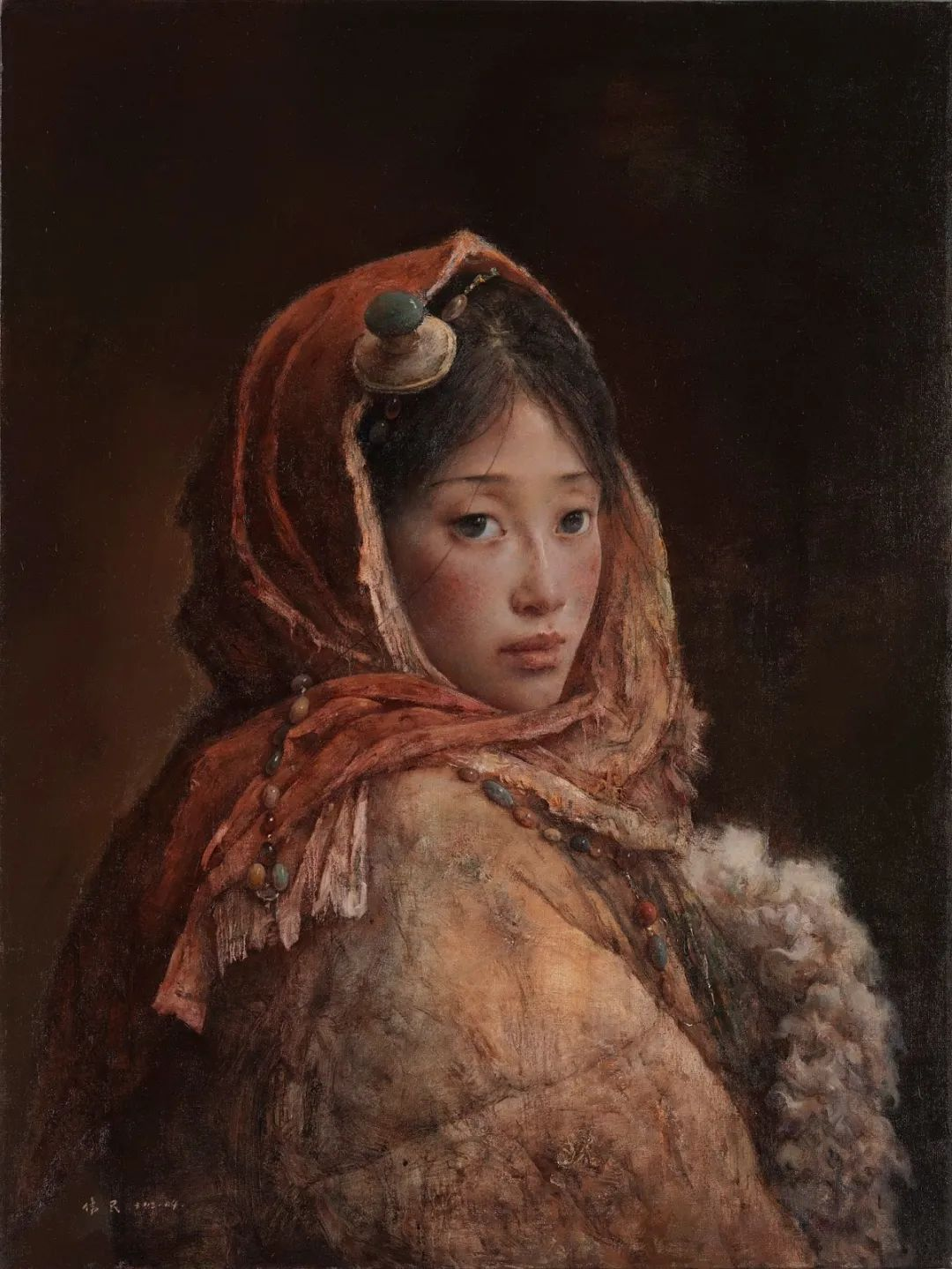 他画的西藏女孩,美得孤高、坚韧!插图85