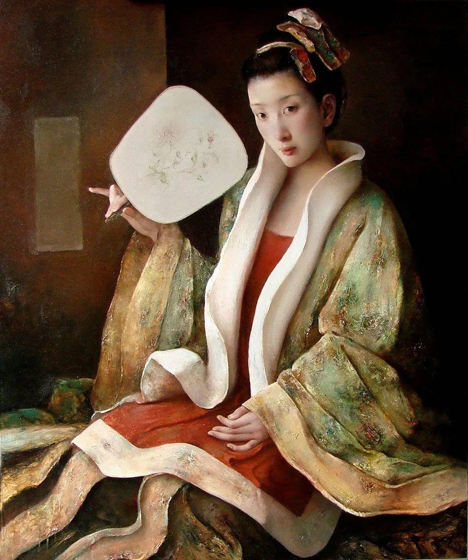 他画的西藏女孩,美得孤高、坚韧!插图97