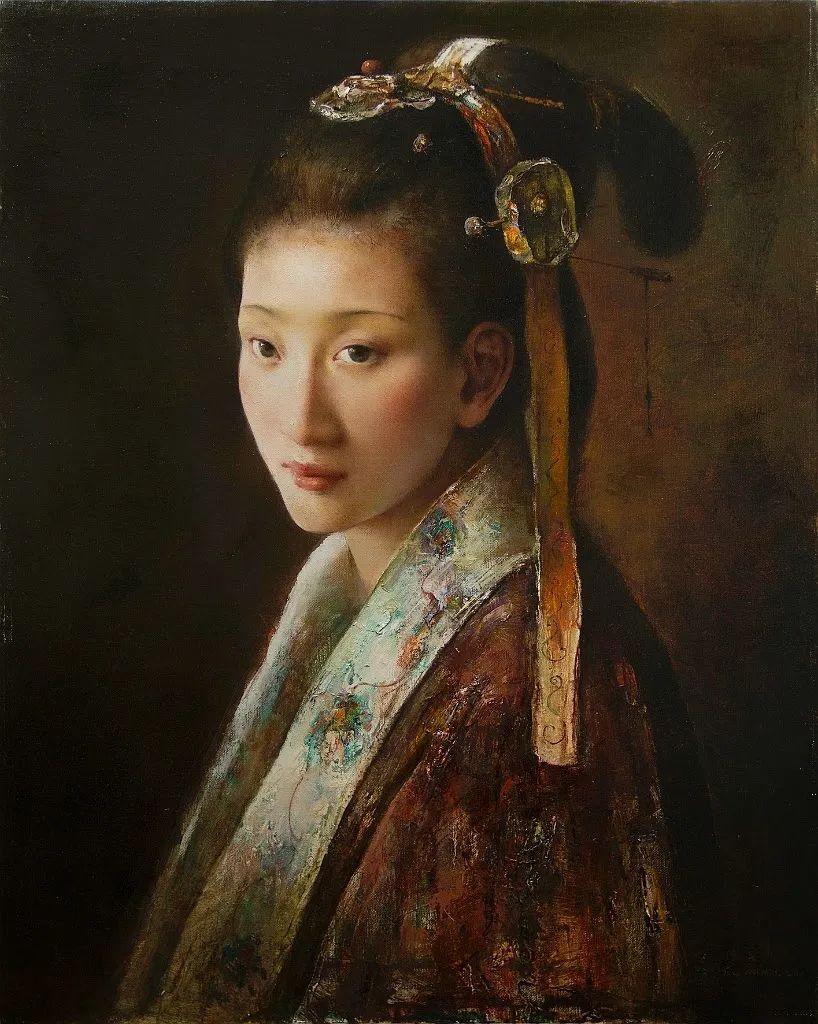 他画的西藏女孩,美得孤高、坚韧!插图101