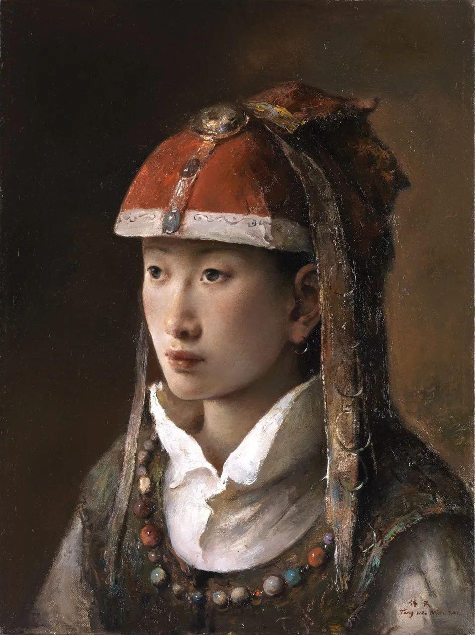 他画的西藏女孩,美得孤高、坚韧!插图111