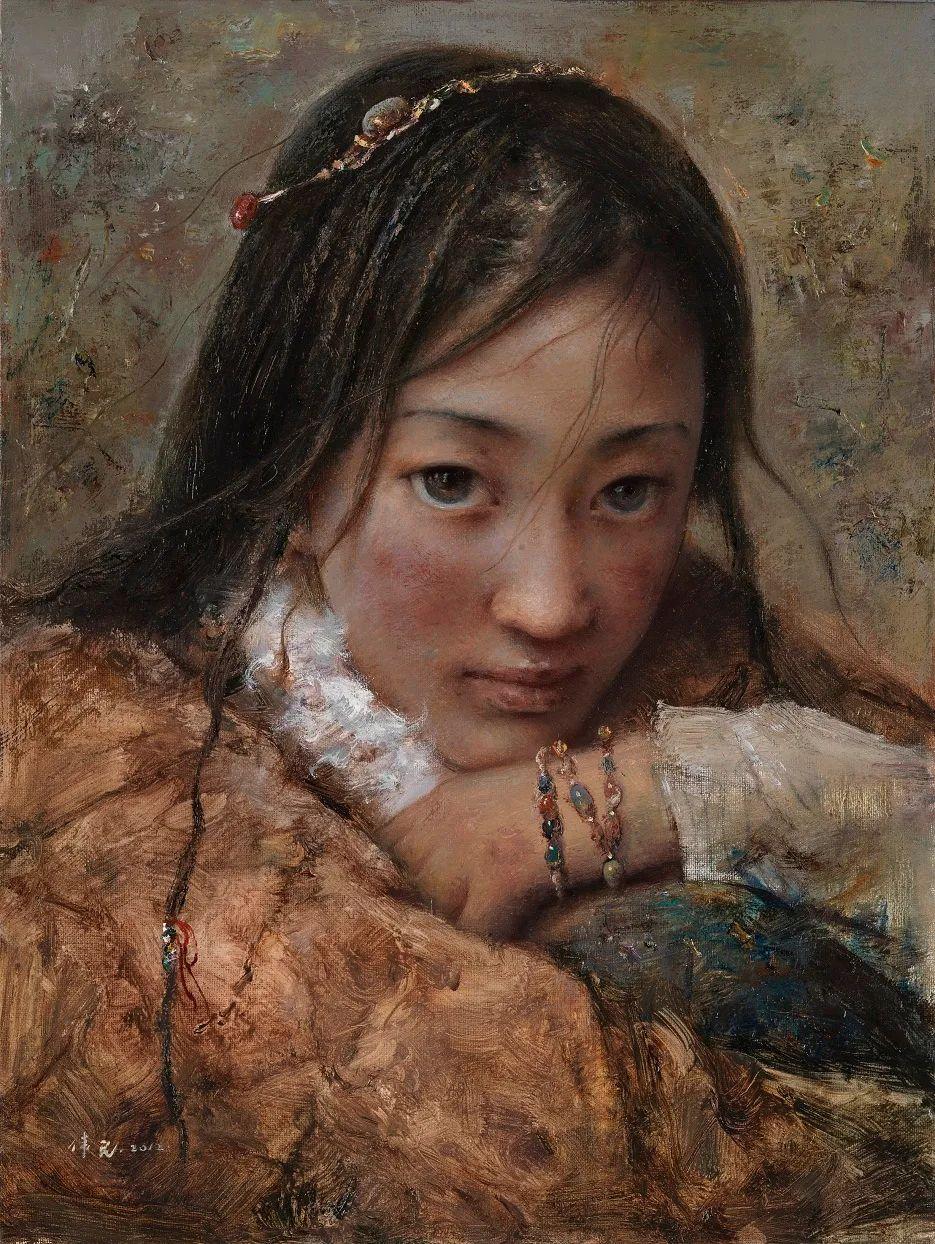 他画的西藏女孩,美得孤高、坚韧!插图113