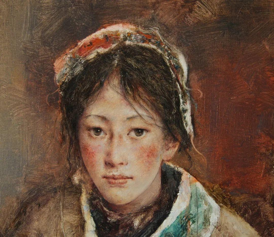 他画的西藏女孩,美得孤高、坚韧!插图115