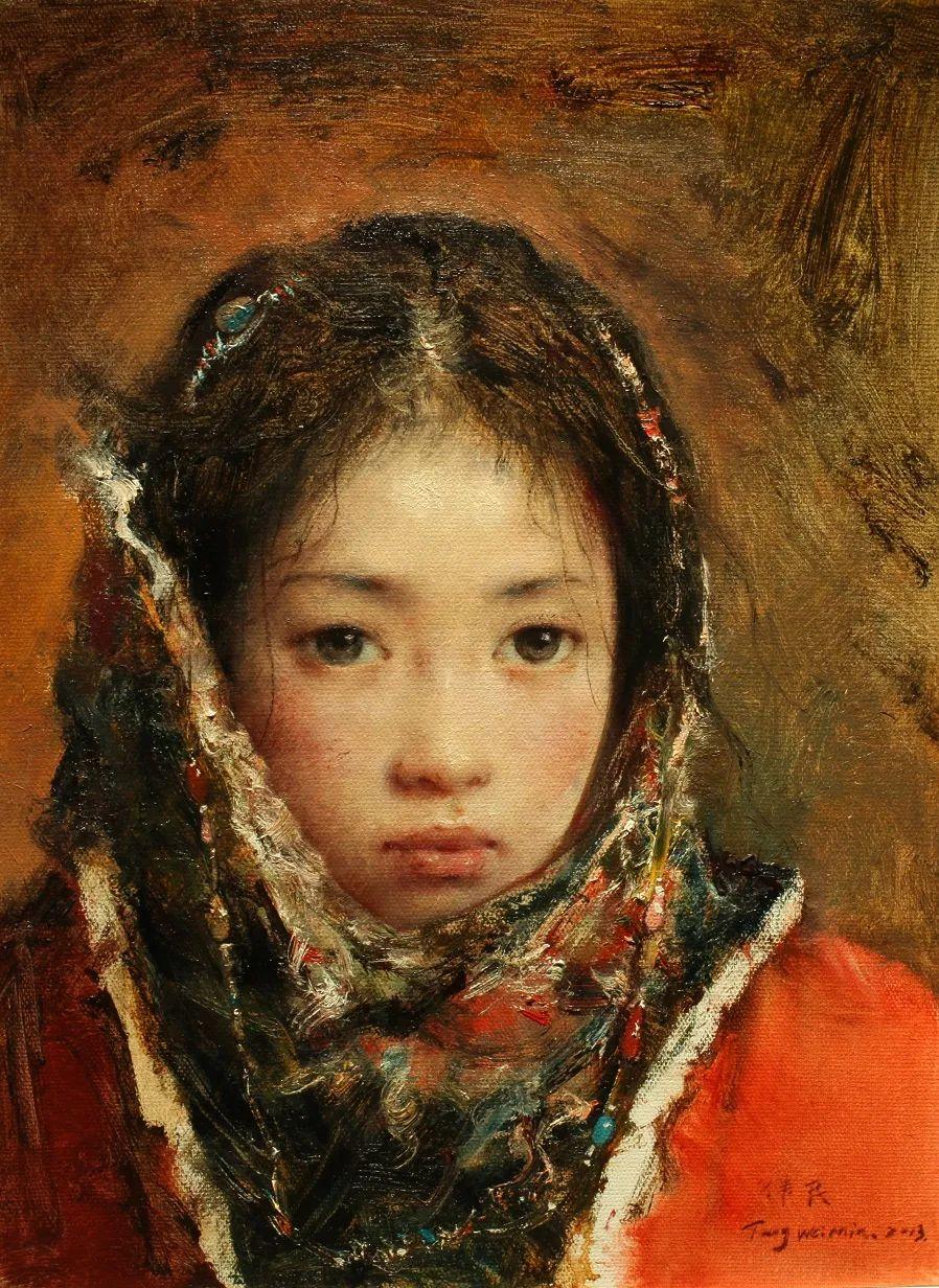 他画的西藏女孩,美得孤高、坚韧!插图117