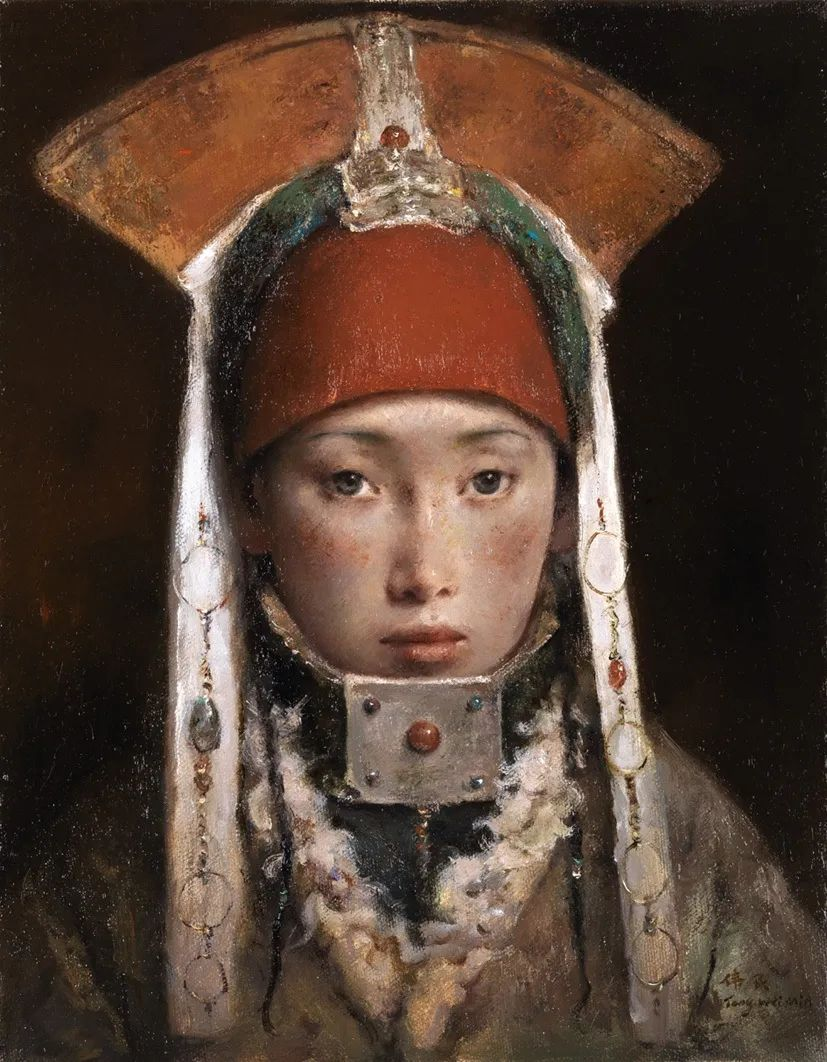 他画的西藏女孩,美得孤高、坚韧!插图121