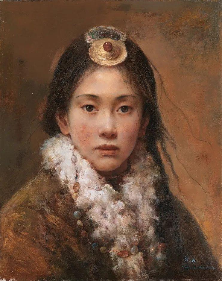 他画的西藏女孩,美得孤高、坚韧!插图125