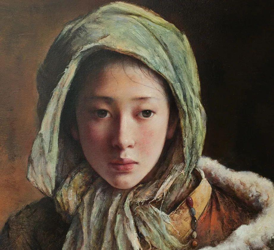 他画的西藏女孩,美得孤高、坚韧!插图127