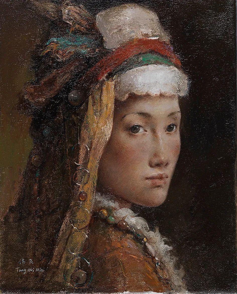 他画的西藏女孩,美得孤高、坚韧!插图133