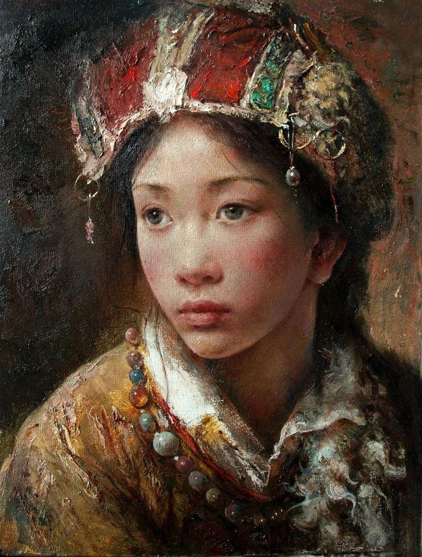 他画的西藏女孩,美得孤高、坚韧!插图137