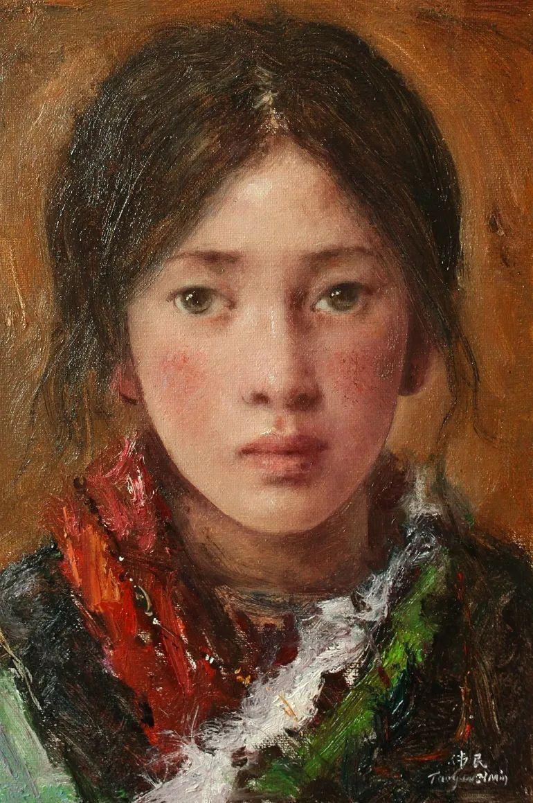 他画的西藏女孩,美得孤高、坚韧!插图139
